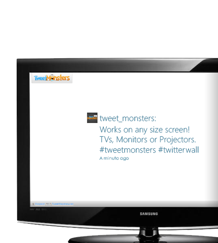 See your tweets and generate a buzz at your events, concerts, restaurants and more!